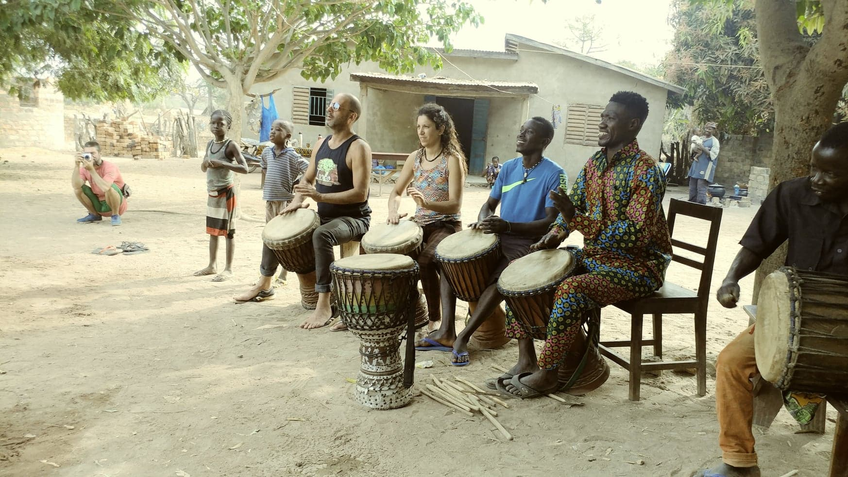 drumdance in village Nma
